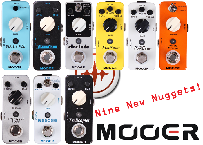 Nine New Pedals from Mooer